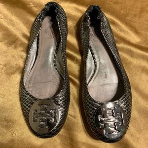 Tory Burch Flats Womens 6.5 Silver